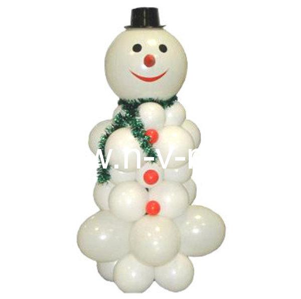 Как сделать шарик на новый гПоделка снеговик